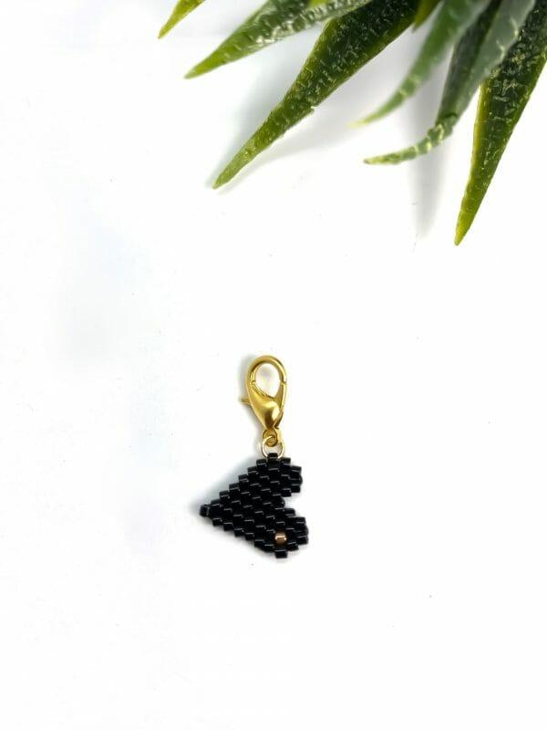Charm Kalp (siyah)