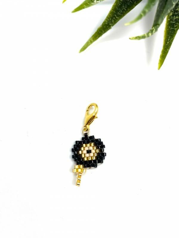Charm Çiçek ( siyah)