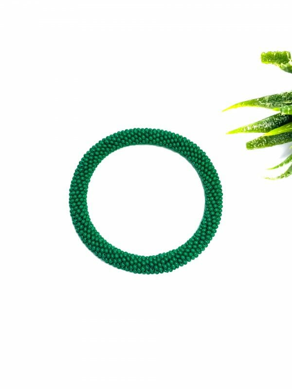 Düz Yeşil Bohem Bileklik