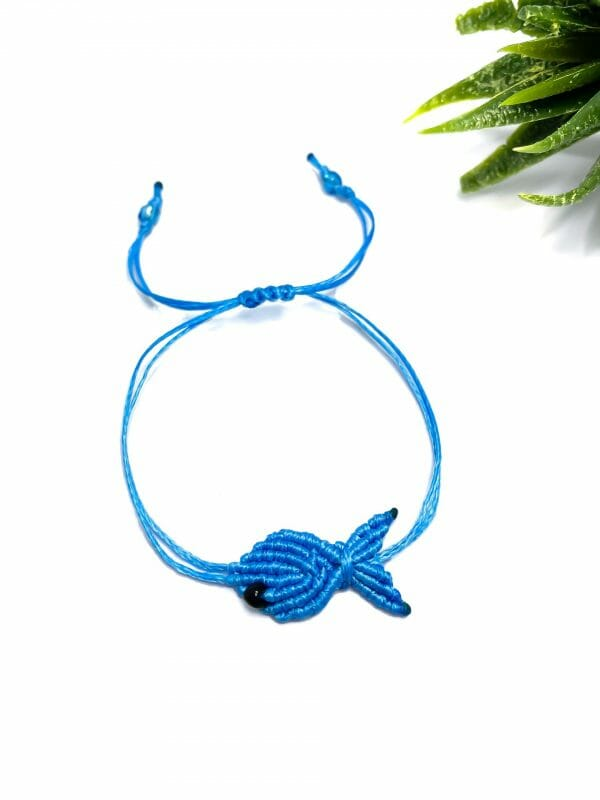 Makrome Balık Bileklik (mavi)