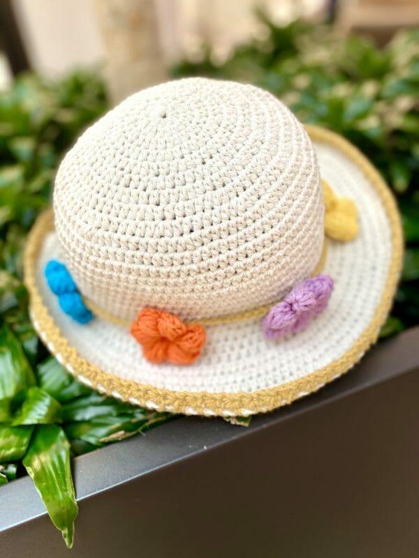 Flower Örgü Şapka (Rengarenk Çiçek)