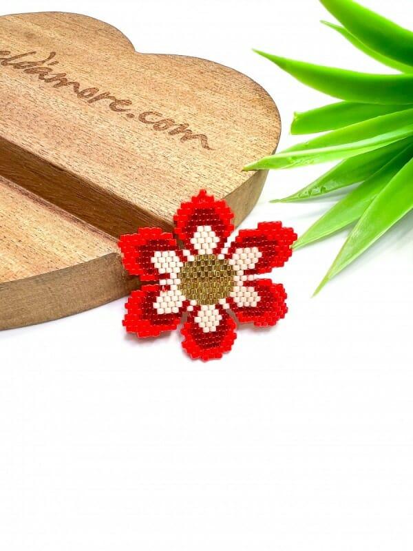 Yıldız Çiçeği Miyuki Broş