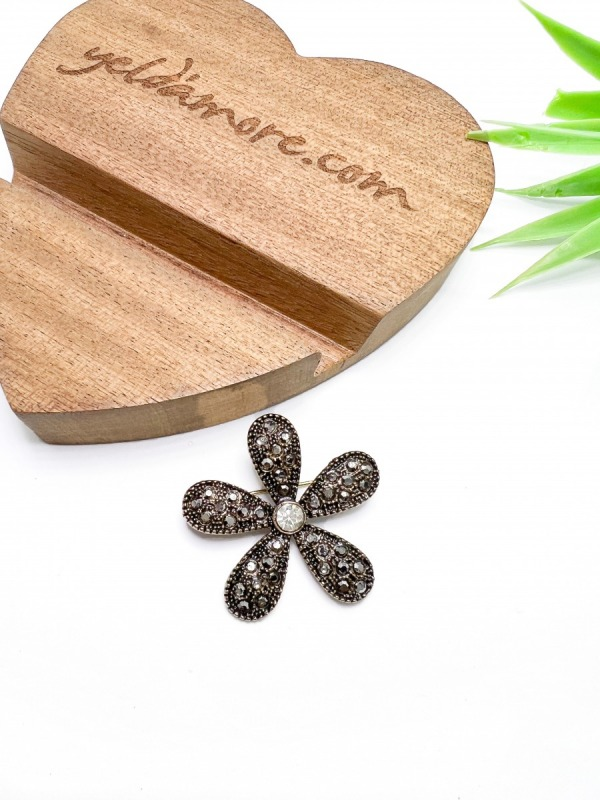 Çiçek Bronz Broş