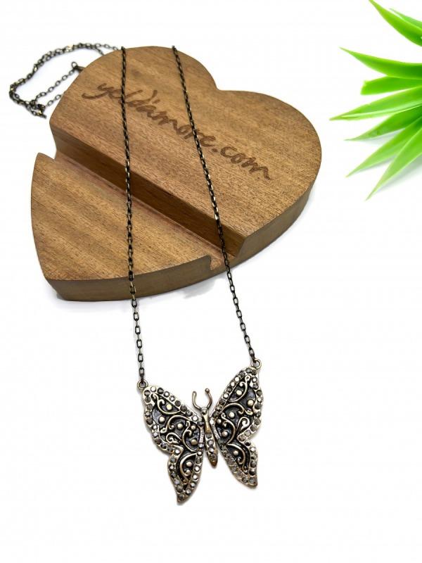 Kelebek Bronz Kolye